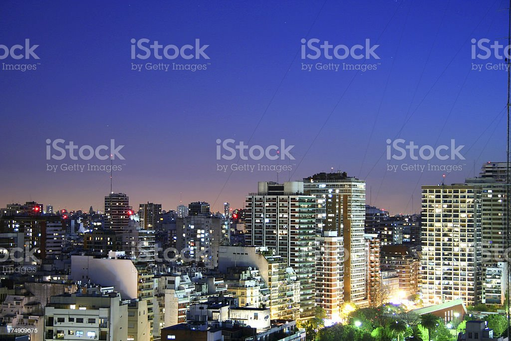 Buenos Aires city Sunset royalty-free stock photo