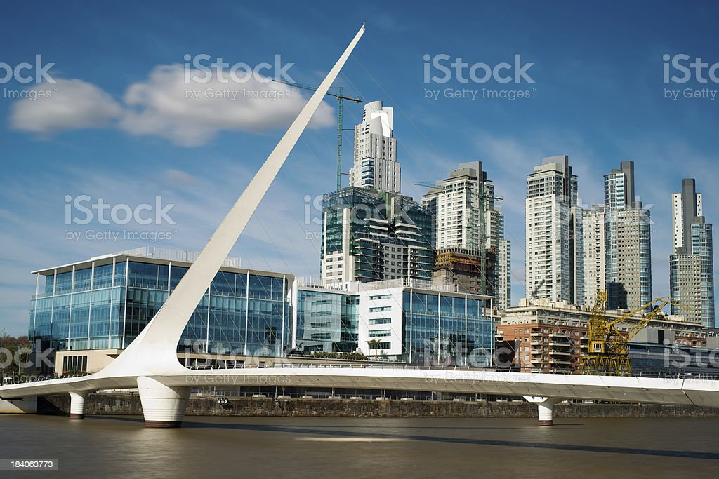Buenos Aires Cityscape, Capital City of Argentina, Puerto Madero Neighborhood stock photo