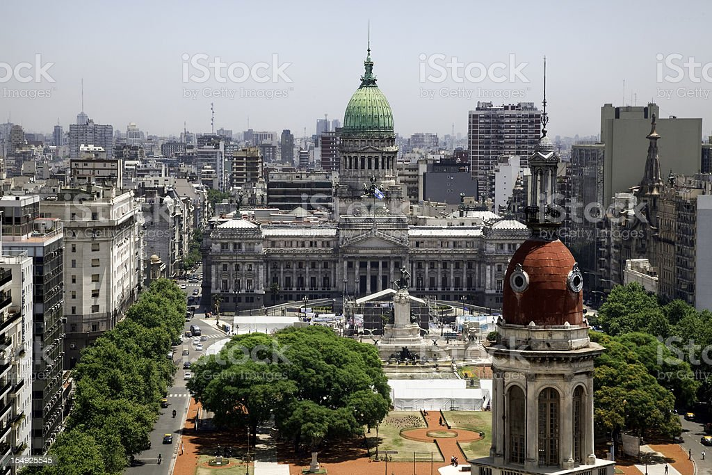 Buenos Aires Cityscape royalty-free stock photo