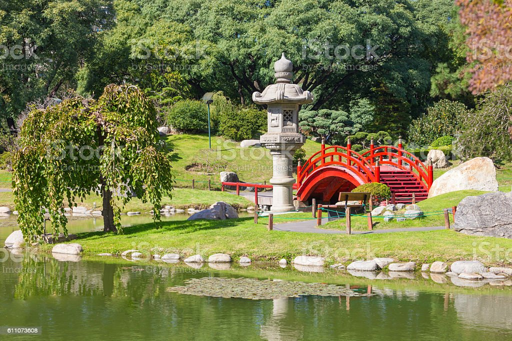 Buenos Aires Japanese Gardens stock photo
