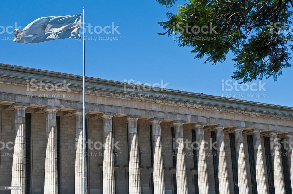 Buenos Aires Law faculty at Argentina stock photo