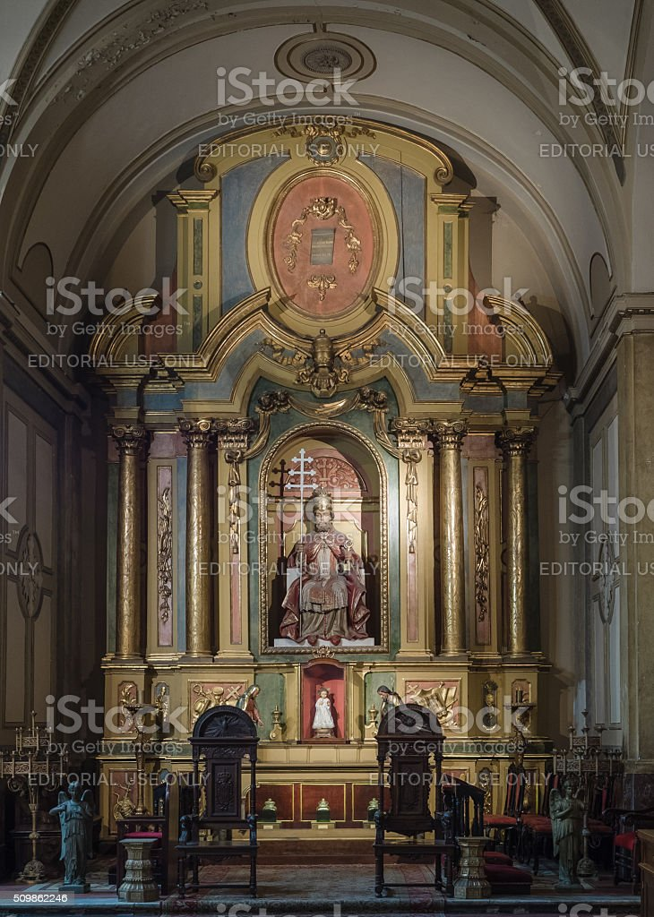 Buenos Aires Metropolitan Cathedral stock photo