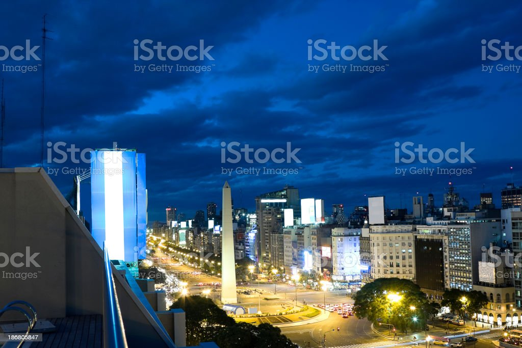 Buenos Aires Obelisk royalty-free stock photo