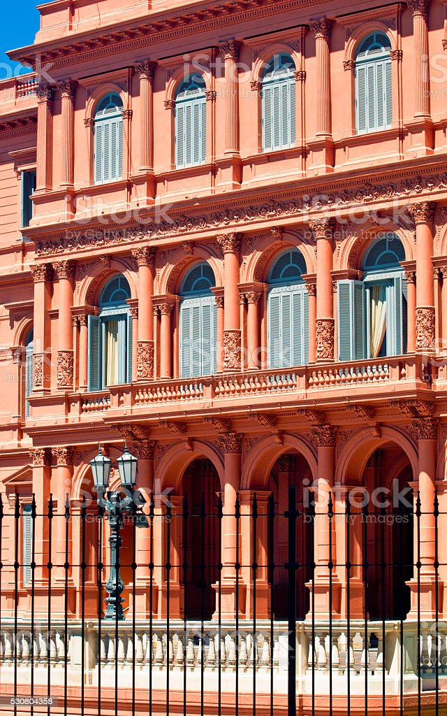 Buenos Aires Pink House stock photo
