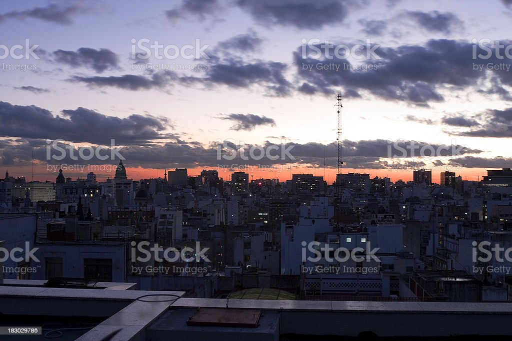 Buenos Aires sunset stock photo