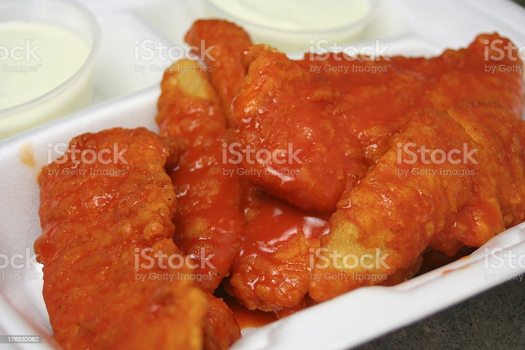 Buffalo Chicken Fingers To Go royalty-free stock photo