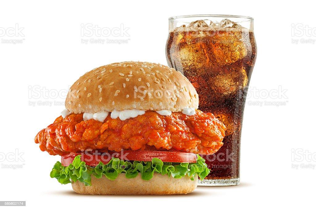 Buffalo Chicken Sandwich stock photo