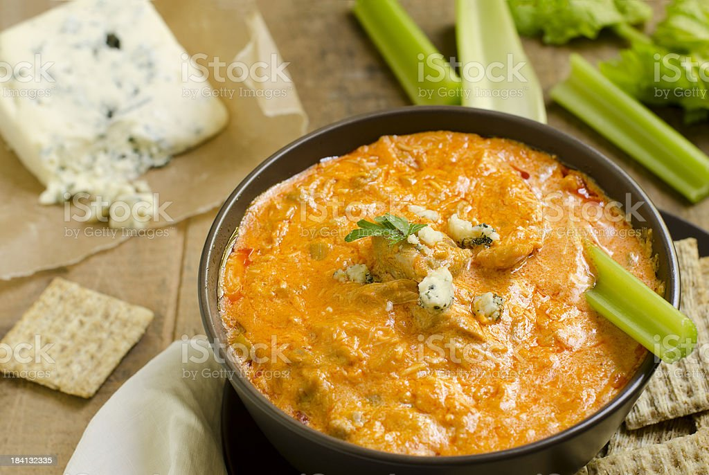 Buffalo Chicken Wing Dip Horizontal stock photo