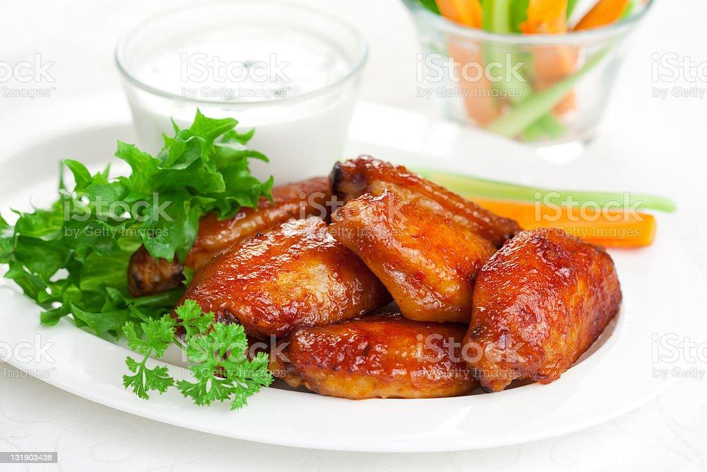 Buffalo chicken wings royalty-free stock photo