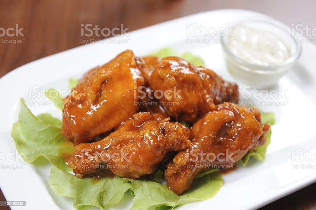Buffalo chicken wings stock photo
