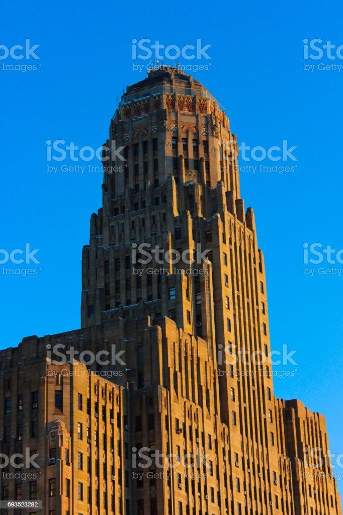 Buffalo City Hall at Dusk stock photo