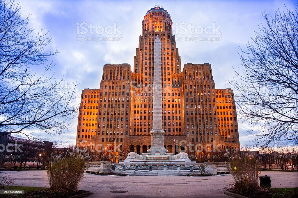 Buffalo City Hall stock photo