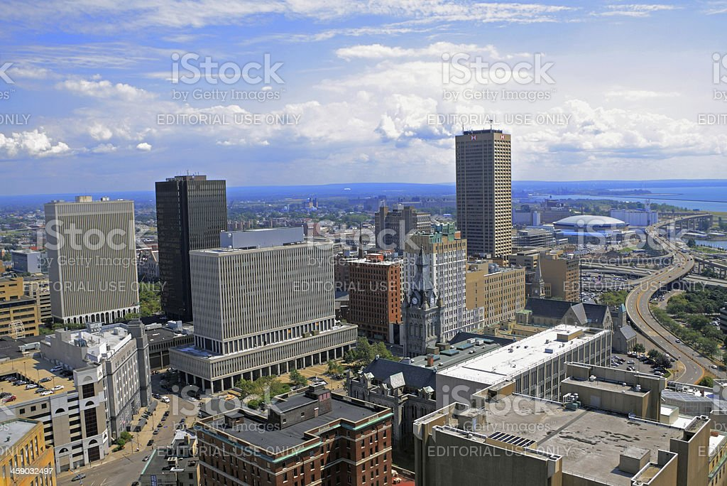Buffalo Downtown and Waterfront stock photo