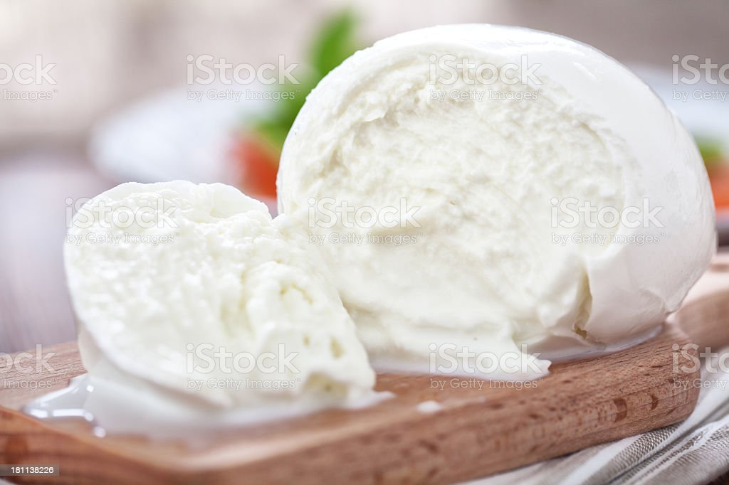 Buffalo mozzarella stock photo