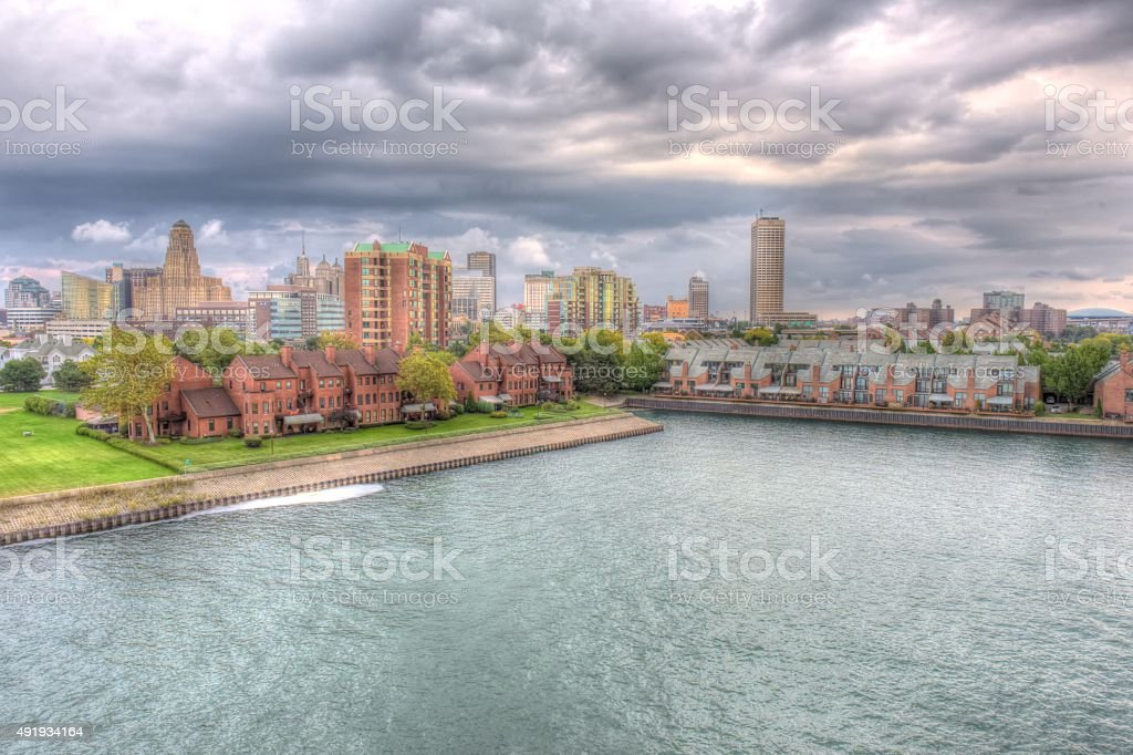 Buffalo New York Cityscape stock photo