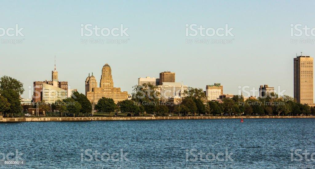 Buffalo NY Skyline stock photo