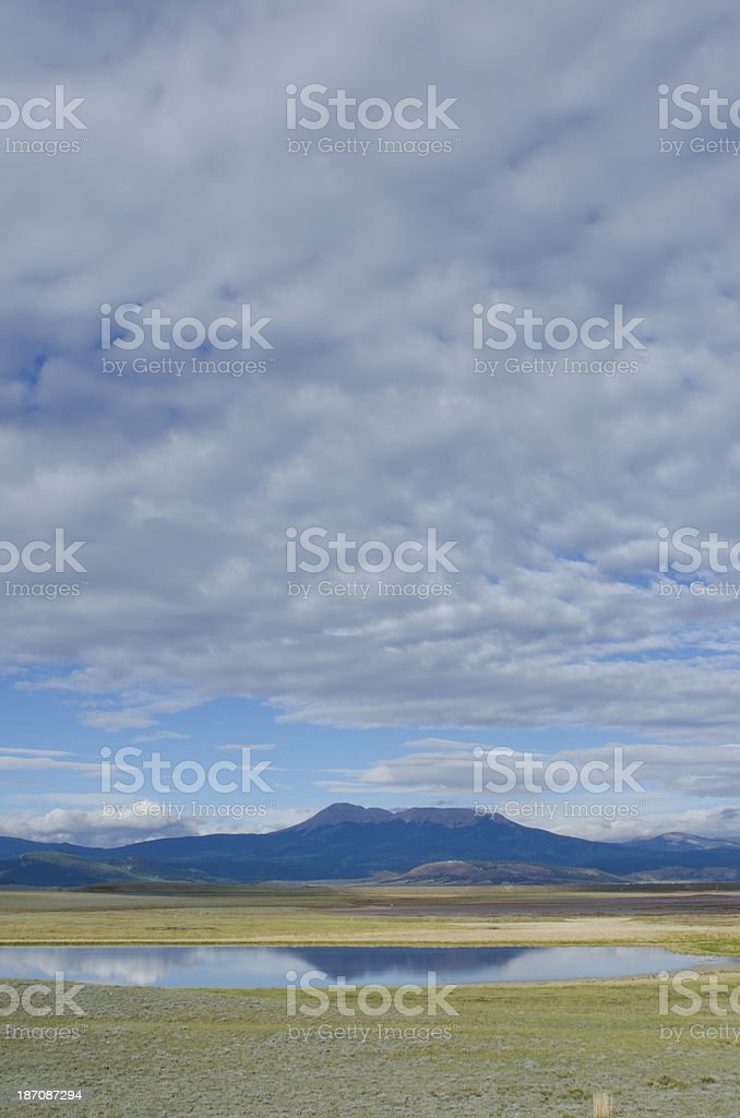 Buffalo Peaks Cloudscape and Reflection royalty-free stock photo