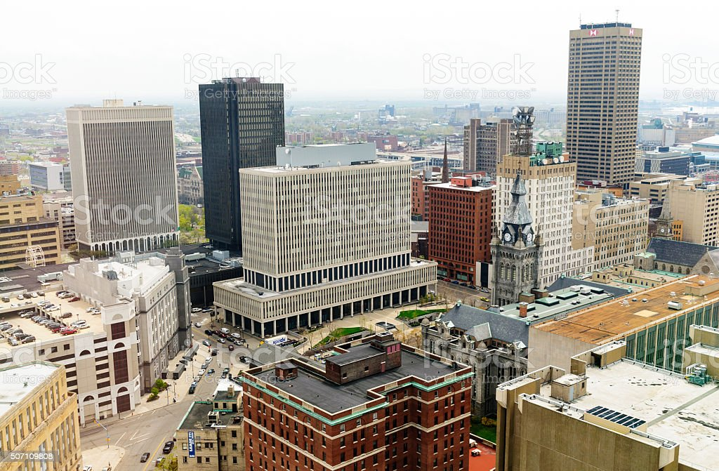 Buffalo Skyline stock photo