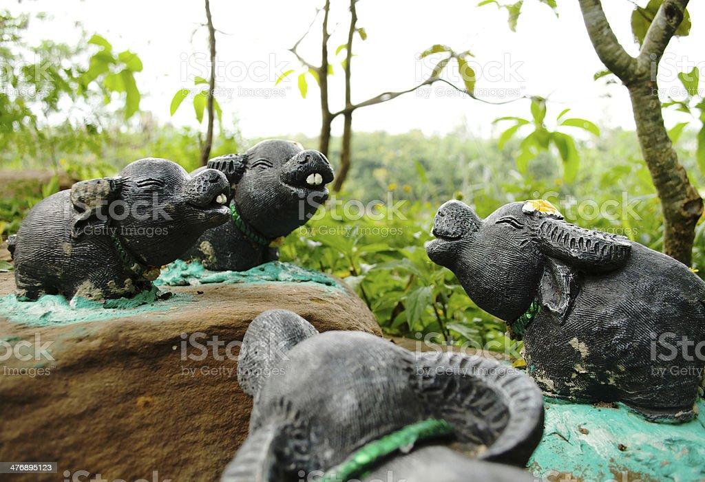 Buffalo statue royalty-free stock photo