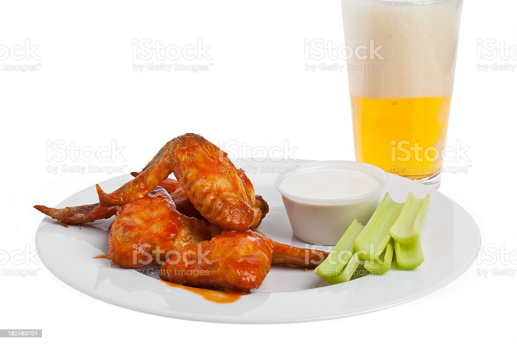 Buffalo Wings and Beer royalty-free stock photo