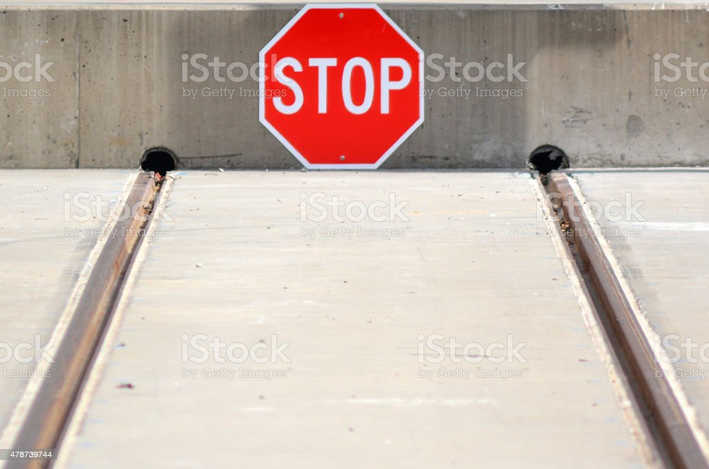 Buffer stop stock photo