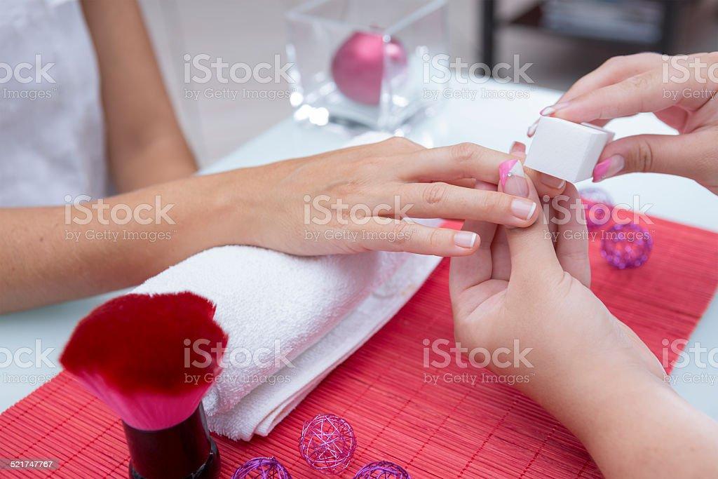 buffering nails stock photo