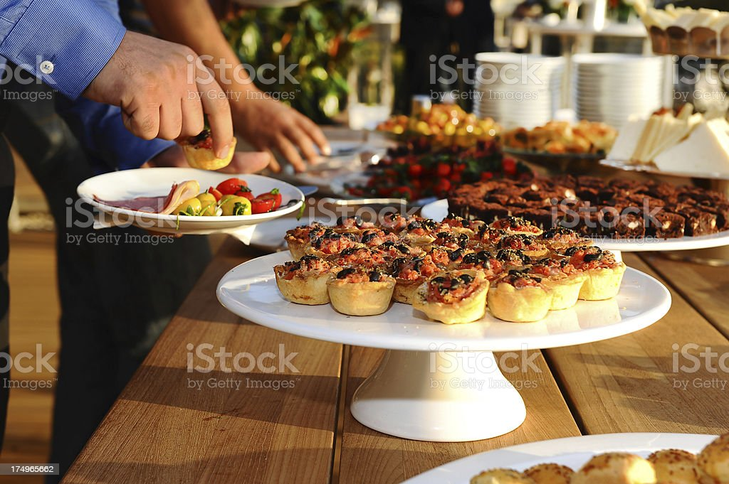 buffet and brunch stock photo