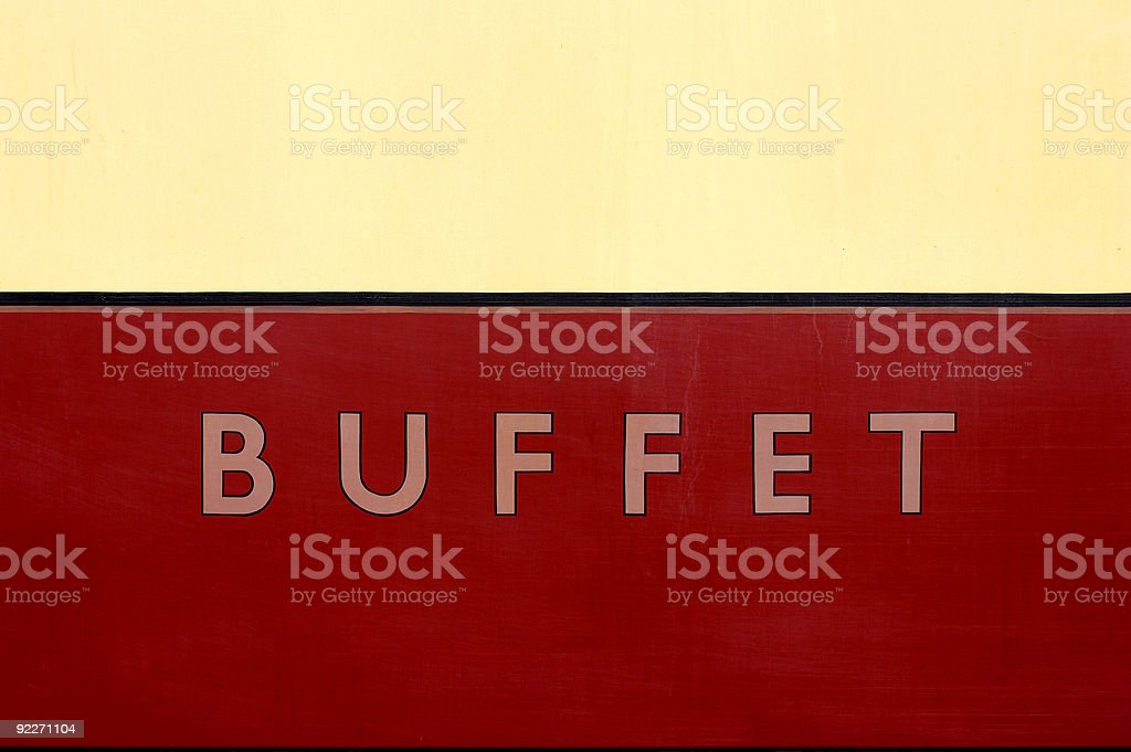 Buffet car sign royalty-free stock photo