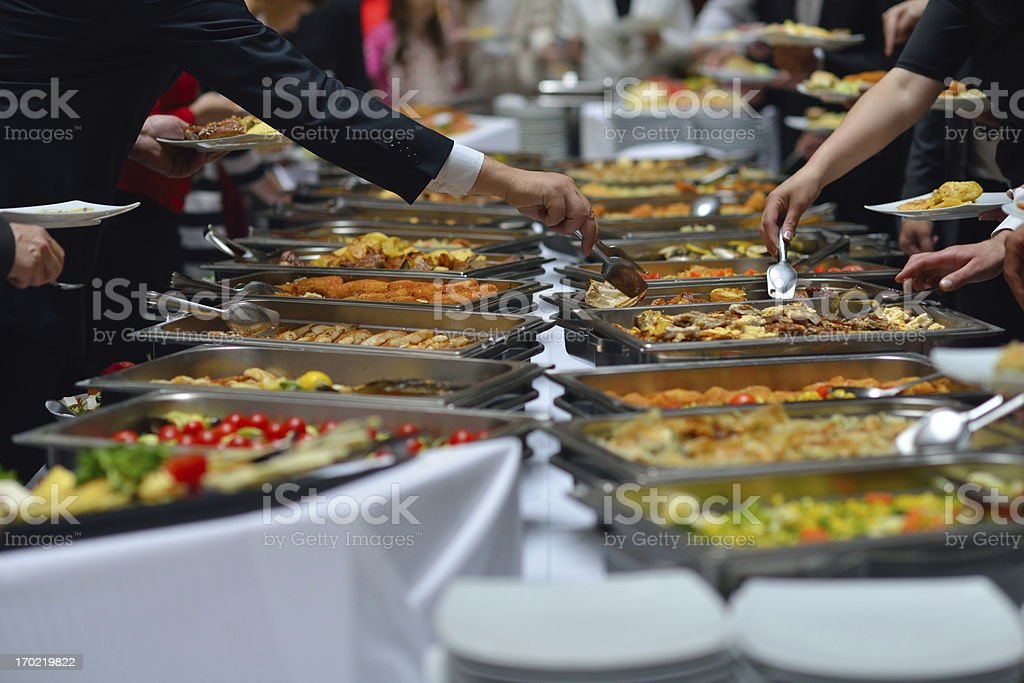 buffet food stock photo