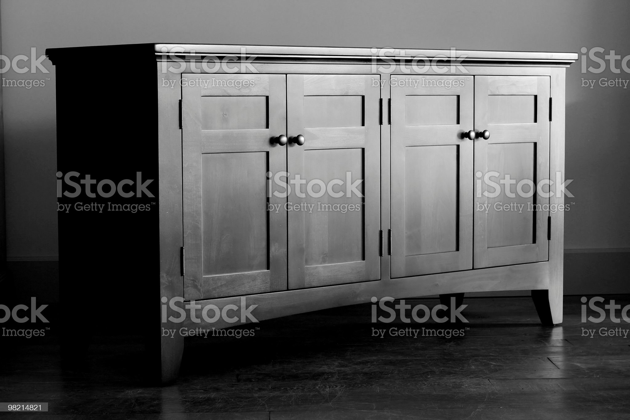 Buffet in Black and White royalty-free stock photo
