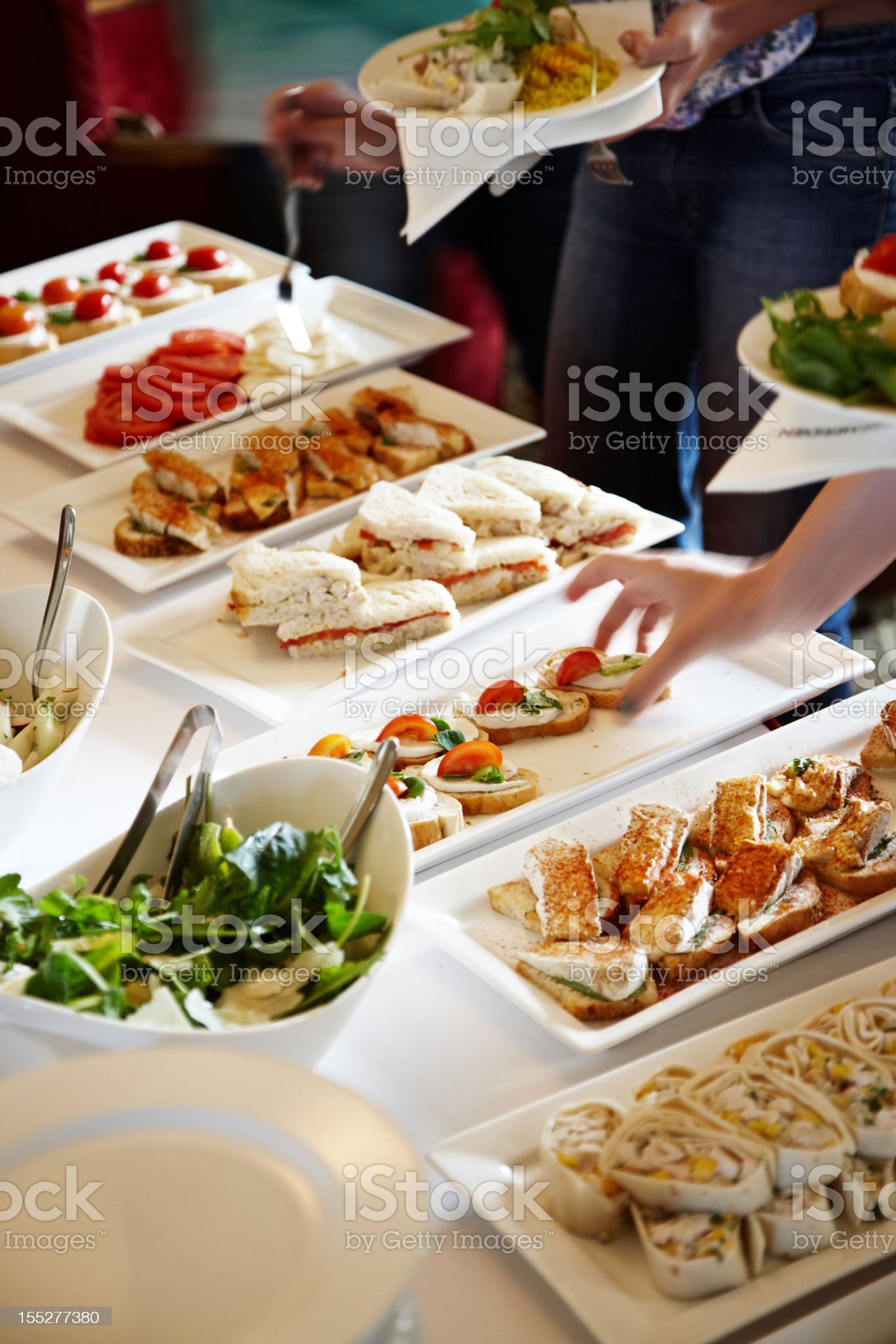 Buffet lunch serving royalty-free stock photo