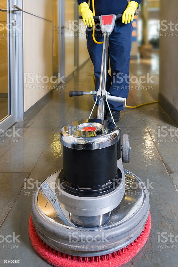 Buffing machine stock photo
