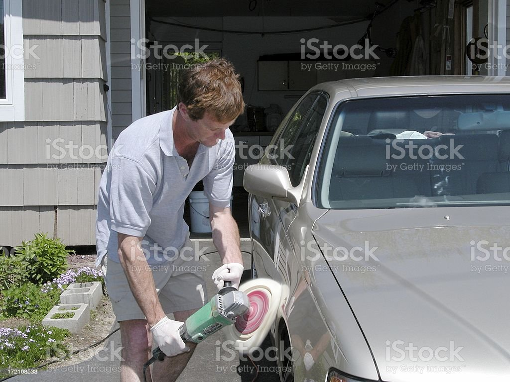 Buffing the car 2 royalty-free stock photo