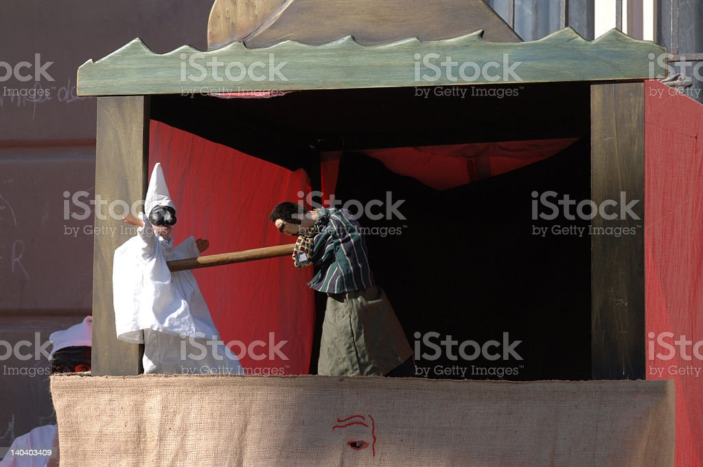 pulcinella stock photo