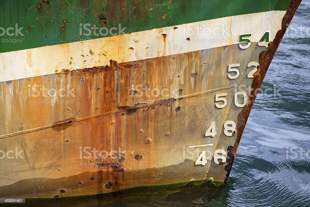 Bug eines Schiffes,maritimes Detail stock photo