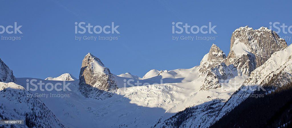 Bugaboos in Winter royalty-free stock photo
