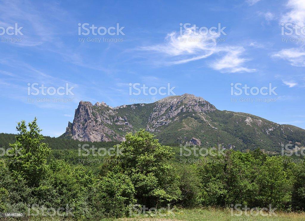 Bugarach mountain stock photo