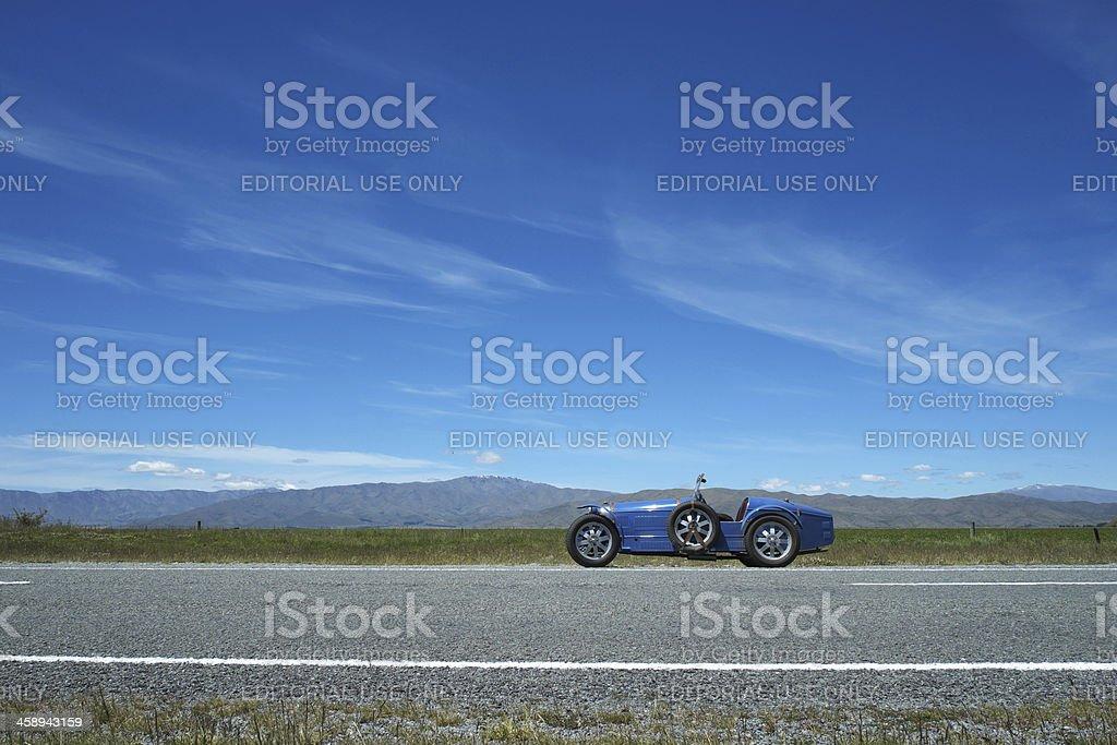 Bugatti Replica In Mackenzie Country, New Zealand royalty-free stock photo