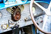Bugatti Type 35 vintage race car dashboard detail