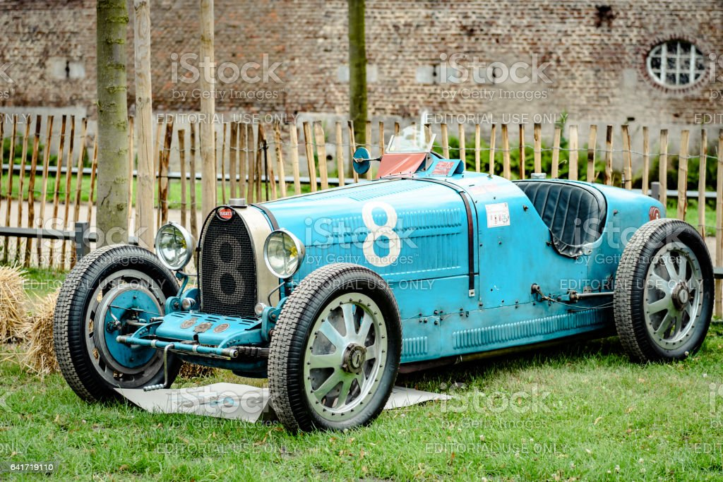 Bugatti Type 35 vintage race car stock photo