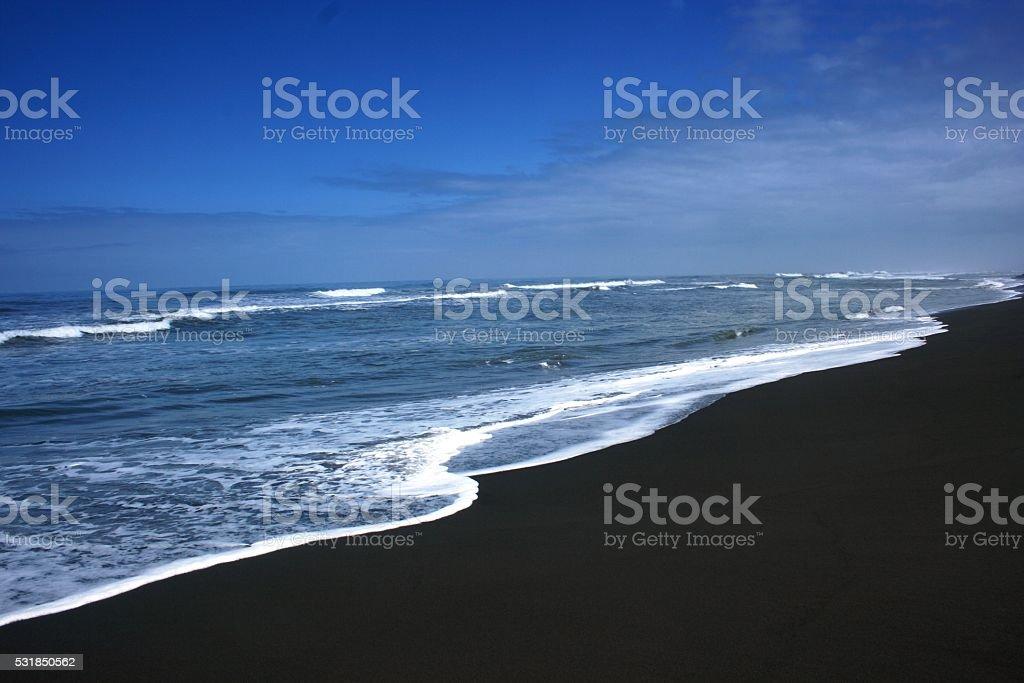 Bugel beach atmosphere stock photo