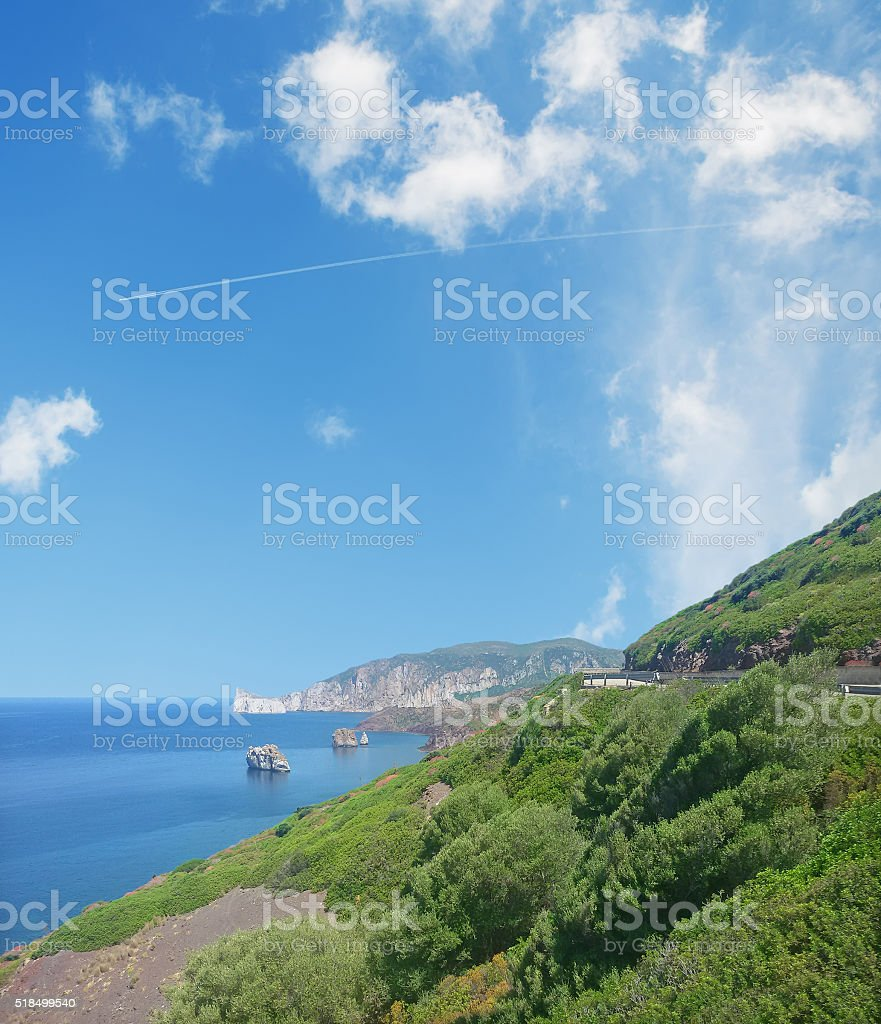 Buggerru coastline stock photo