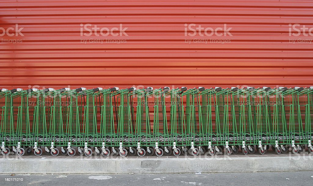 buggies green and red royalty-free stock photo