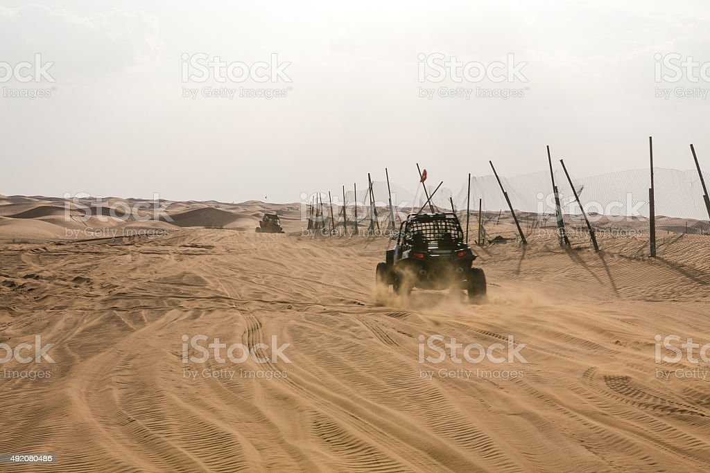 Buggy in the desert. stock photo