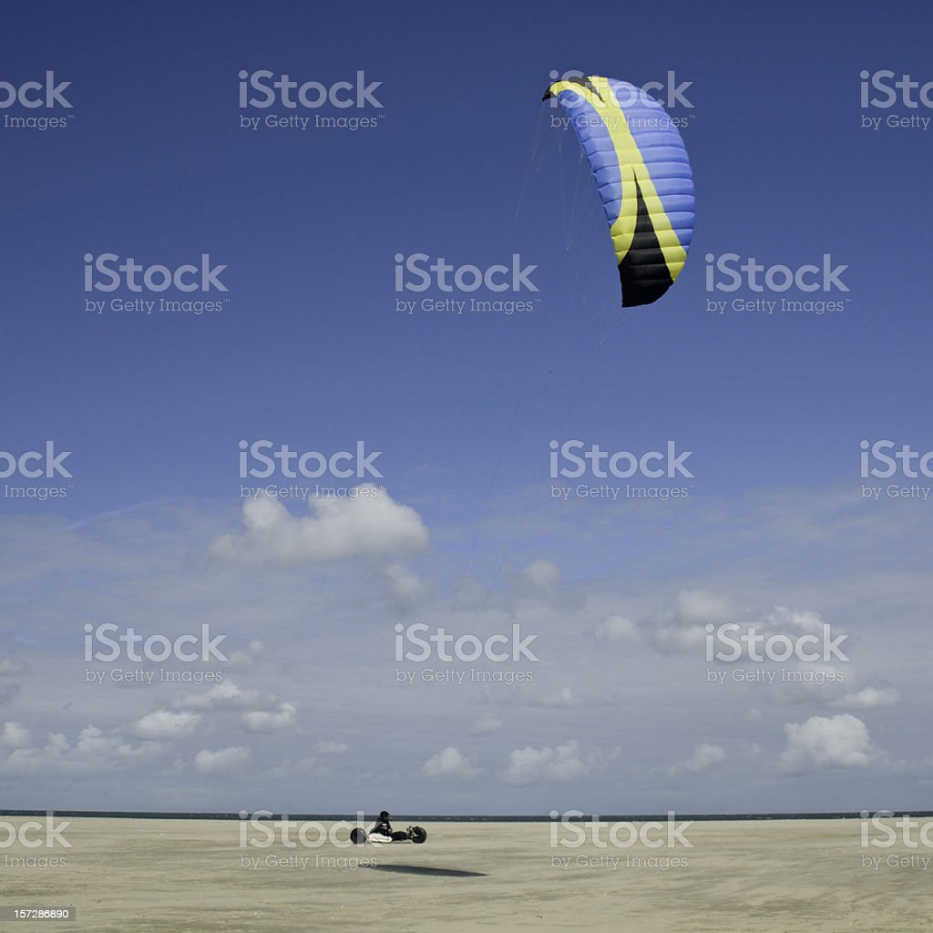 Buggy Kite Surfing royalty-free stock photo