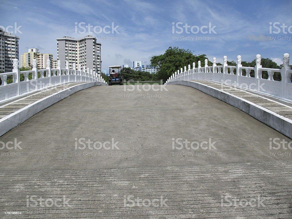 Buggy on Bridge royalty-free stock photo