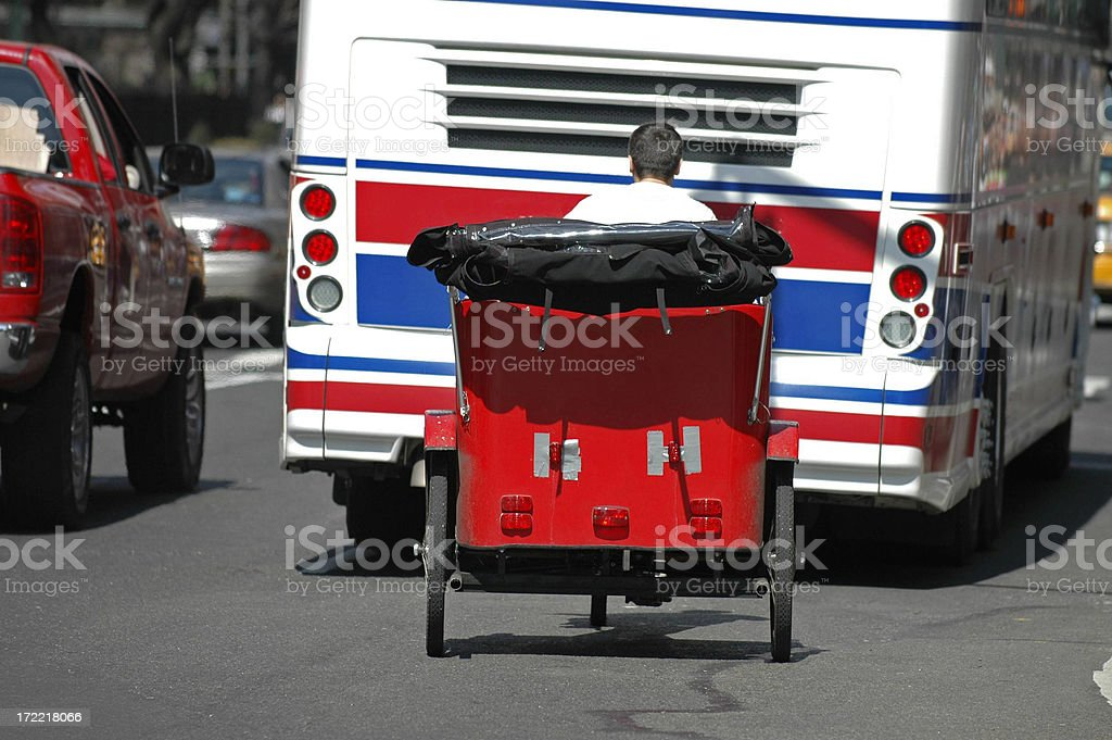 Buggy on the Buss's Bumper royalty-free stock photo