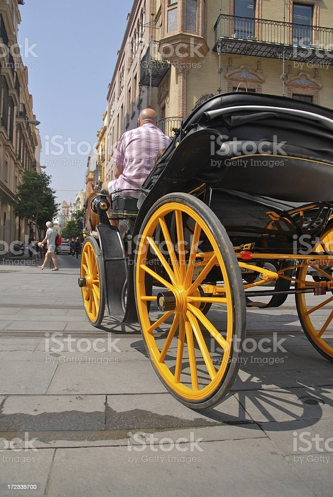 Buggy Ride Through Seville royalty-free stock photo