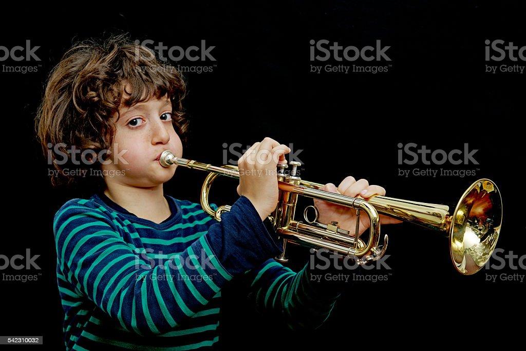 Bugle boy stock photo