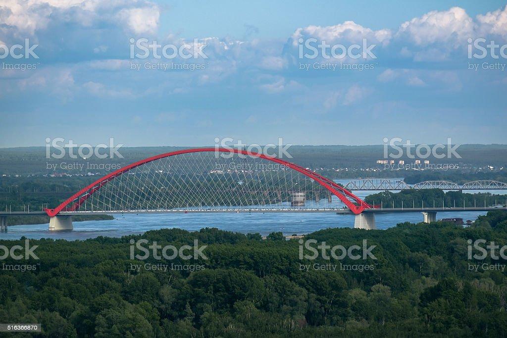 Bugrinsky bridge stock photo